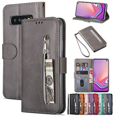 For Samsung S10 Plus S9 S8 S7 S6 Note 10 Phone Case Cover Leather Wallet Zipper