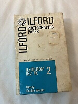 Vintage Ilford Photographic Paper Glossy Double Weight Ilfobrom 1B2.Ik 2 100