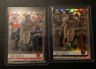 2019 Topps Chrome JEFF McNEIL RC Refractor Lot of 2 Sepia & Base Chrome NY Mets