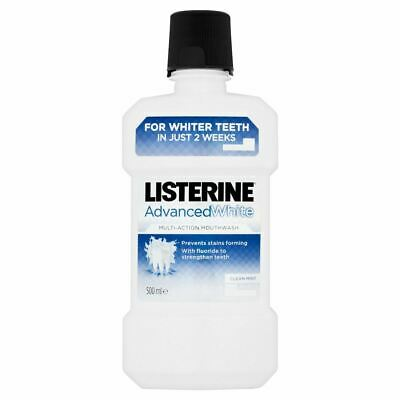 Listerine Advanced White Multi-Action Mouthwash Clean Mint 500ml New