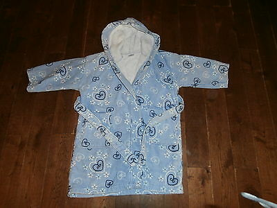 NEXT Dressing Gown AGE 3-4 Years Blue with Hearts