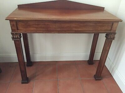 Vintage Wooden Console Table - Console Lamp Side Hall Antique Style With Drawer
