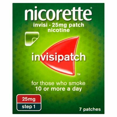 Nicorette Invisi Patch 25MG Step 1 x 7 Patches  New