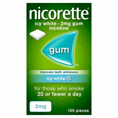 Nicorette Icy White Gum 2MG 105 pieces  New