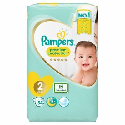 Pampers 54 Nappies Size 2 DermaTest New
