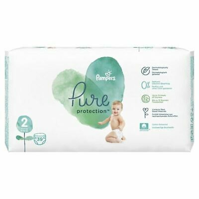 Pampers 39 Nappies Pure Protection size 2 New