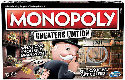 Monopoly Cheaters Edition Board Game Follow, Bend Or Break The Rules 8+ BNIB