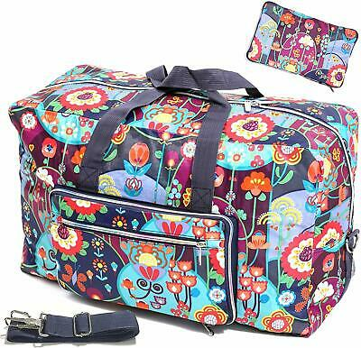 Foldable Travel Duffle Bag for Women Girls Large Cute Weekender Overnight Floral