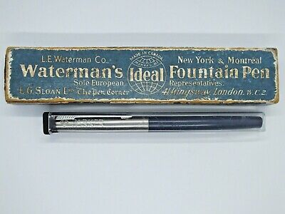 Vintage Parker Fountain pen and Waterman Fountain Pen in box.