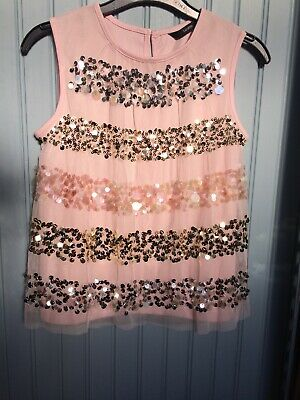 Girls Pink Sparkly Party Top from George,age 6-7 years BNWT, Postage FREE