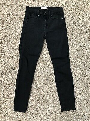 GAP Womens Jeans 26s True Skinny Gray Black Denim 26 Short