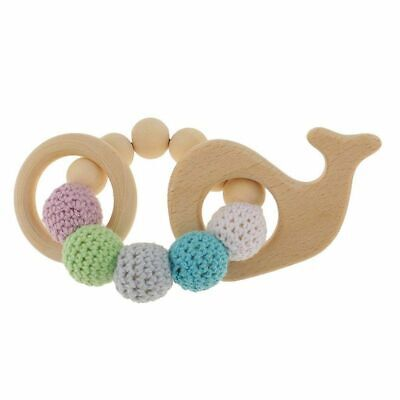 1 pc Wooden Educational Toys Children Rattle Toy Baby Teething Accessories E1F8