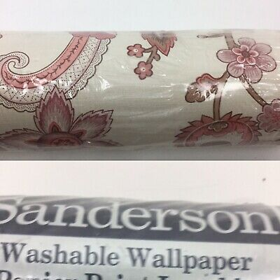 Vintage Sanderson Wallpaper Still In Sealed Wrapping Pink Floral