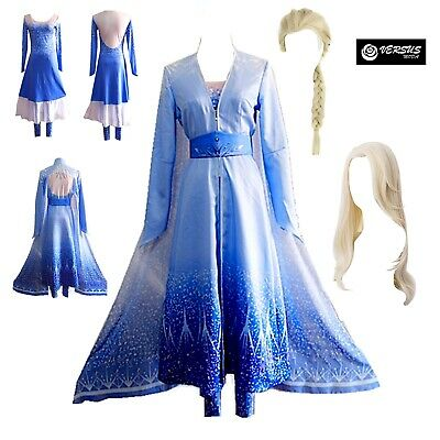 Frozen 2 pz Elsa Vestito Costume Carnevale Donna Dress up Woman Pants FROWOM02
