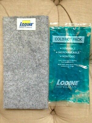 Reusable, microwavable non-toxic cold/hot pack with grey felt cover for soothing