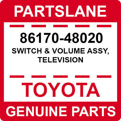 86170-48020 Toyota OEM Genuine SWITCH & VOLUME ASSY, TELEVISION