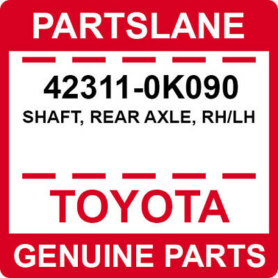 REAR AXLE 4231160242 Genuine Toyota SHAFT RH//LH 42311-60242