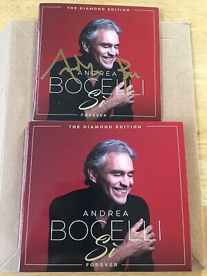 100% Genuine Signed Andrea Bocelli The Diamond Edition Forever Cd