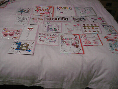 25 Premium Quality Assorted Greeting Cards. All With Embellishments