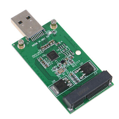 1Pc Mini USB 3.0 to PCIE mSATA External SSD PCBA Conveter Adapter NWUS