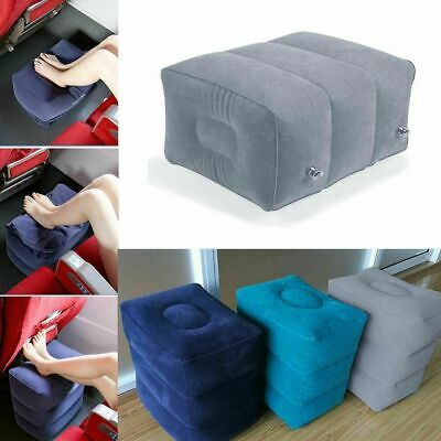 Inflatable Travel Footrest Leg Foot Rest Air Plane Pillow Pad Kids Bed PortNWUS