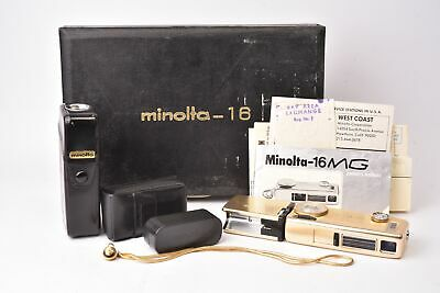Camera Miniature Minolta 16 Gold with Box D'Genuine and Manuals