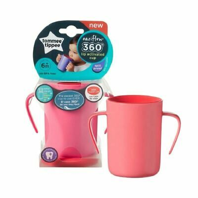 Tommee Tippee 360 Handled Cup Pink New