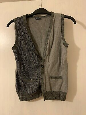 Boys Knitted Waistcoat From Next, Age 8 Years, Grey, Winter, Warm, Smart