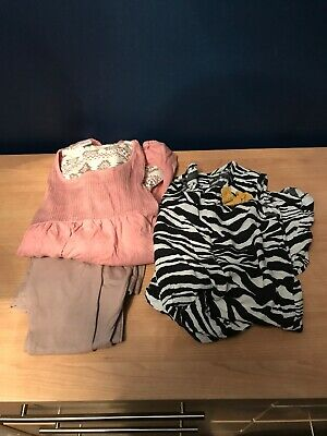 Bundle Job Lot Girls 1 X Dress 1 X Tops And Leggings Outfit Age 8-9