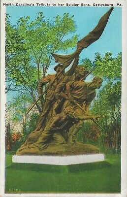 Pennsylvania  Gettysburg  North Carolina's Tribute To Her Soldier Sons  Postcard