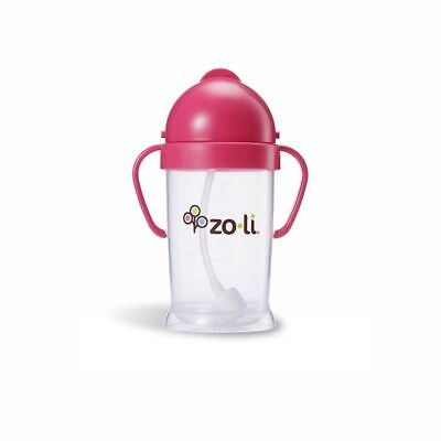 ZoLi   Bot   Straw Sippy Cup 180ml Pink New