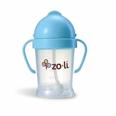 ZoLi   Bot   Straw Sippy Cup 180ml Blue New