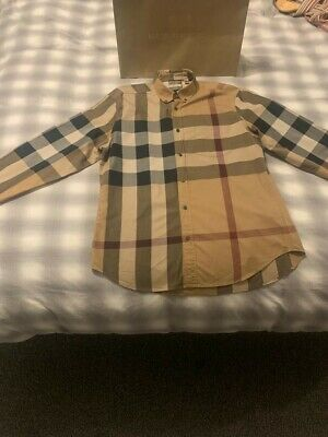 Burberry Shirt ,iconic check beige size L