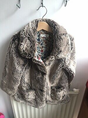 Marks And Spencer Faux Fur Gorgeous Coat / Jacket For Girl Aged 4-5 Years Mink