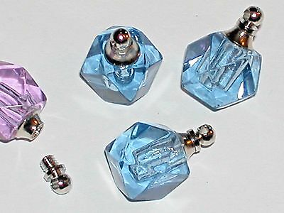 1pc BLUE Crystal Ball Miniature faceted small vial tiny little bottle Screw Cap*