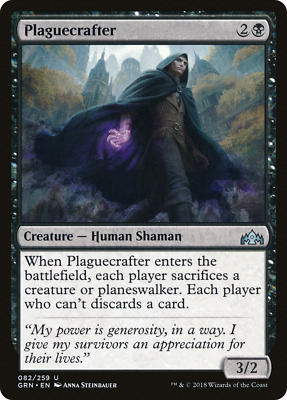 M//NM Pack Fresh MTG Guilds of Ravnica Plaguecrafter x4