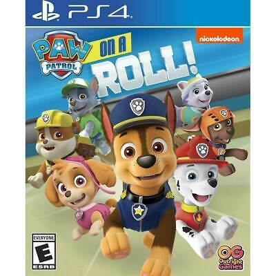 PAW PATROL ON A ROLL for PlayStation 4 PS4 Video Game - New! Slight Case Damage
