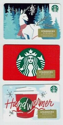 STARBUCKS Gift Card 2019 Christmas Holiday - LOT of 3 Cards - Collectible Empty