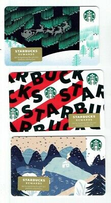 STARBUCKS Christmas Holiday Gift Card 2019 - LOT of 3 Cards - Collectible Empty