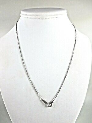 Tiffany & Co Sterling Silver Chain Necklace 18""