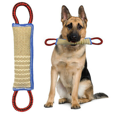 Large Dog Chew Toys Heavy Duty Dog Bite Tugs Indestructible Linen with Handle