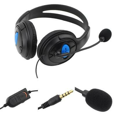 Wired Gaming Headset Headphones with Microphone for  PS4 PlayStation BT