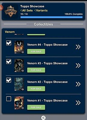 Marvel Collect - Venom Showcase FULL Set RARE