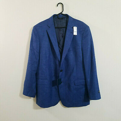 Brooks Brothers Regent Fit Lambs Wool/Silk/Linen Soft Jacket Blue 46R NWT $350