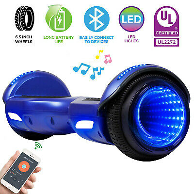 "NEW! 6.5"" Hoverboard Bluetooth Electric Self Balance Scooter no Bag Tunnel Light"