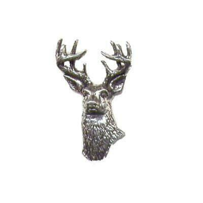 Bisley Étain Broche No.22 Blanc Faces Cerf Homme