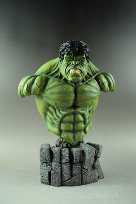 """MARVEL NEW!! THE Incredible HULK BUST STATUE AVENGERS Movie Iron Man 12""""H"""