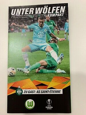 VfL WOLFSBURG v AS SAINT-ETIENNE (EUROPA LEAGUE) - PROGRAMM - 12/12/2019