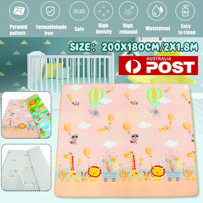 2x1.8M 2-Side Baby Crawling Thick Play Mat Game Rug Children Carpet Floor Kid