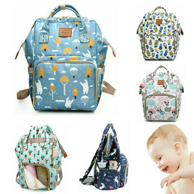 Large Baby Diaper Bag Multifunctional Nappy Changing Waterproof Mummy Backpack